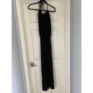 Young, Fabulous & Broke Black Crochet Halter Dress